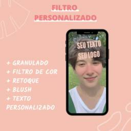 Filtro para instagram ou facebook - Personalizado Stories