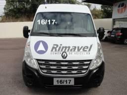 Van Renault Master L3 H2 Ano 16/17 Com A/C 16 lugares Reclinaveis Branca