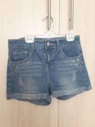 Short jeans feminino infantil