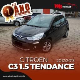 Citroen C3 Tendance 1.5, Teto Panoramico, à vista ou financia