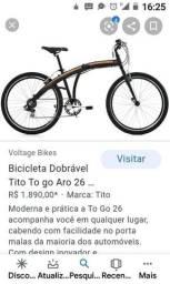 Bike Tito togo dobrável de alumínio nova.