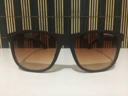 (Aceito cartão) Óculos solar unissex Quadrado, lente: Marrom degradê, Emporio Armani