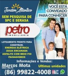 Lotes parcelados no Bairro planejado Jardim Atlântico em Parnaíba Piauí