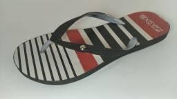 Sandálias com glitter lateral e Coréia