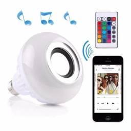Lâmpada Led Music Bluetooth Rgb 12w Controle Remoto