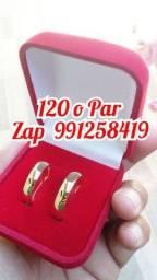 Aliança pra casamento feitas de moedas
