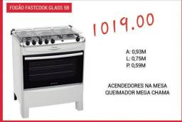 Título do anúncio: Fogão Fastcook Glass 5B, por R$1.019