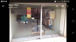 Vitrine/frente de loja com porta Blindex 10