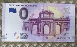 Nota de 0 Euros - Puerta de Alcalá em Madrid, Espanha - Souvenir