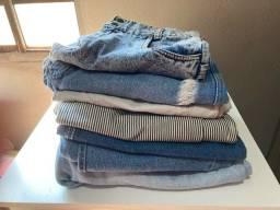 Lote para bazar ou brechó vintage 7 peças jeans CGC