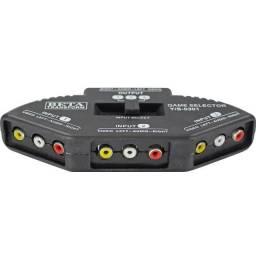 Seletor de Áudio e Vídeo 3 em 1 + Cabo Rca MBTech MB72000