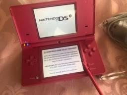 Console Nintendo DS Rosa - Usado com três cartuchos