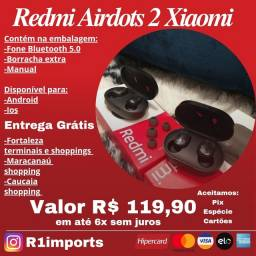 Fone bluetooth Redmi AirDots 2 original entrega grátis
