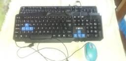 Dois teclados da inova mais um mause por 80 Reais