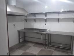 Cozinha Industrial Pia Mesa Prateleira Coifa Aço Inox