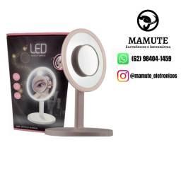 Espelho Maquiagem Makeup LED com ampliação 7X Luz
