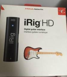 INTERFACE DE ÁUDIO DIGITAL IRIG HD Guitarra Windows/ IOS