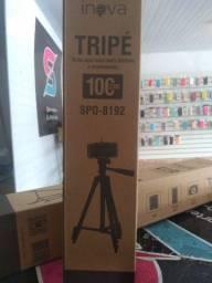 Promoção tripé profissional 100cm com suporte pra celular e bolsa