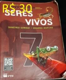 Livro Ciências Novo Pensar 7º Ano - Seres Vivos - R$ 30