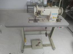 Máquina de costura transporte triplo