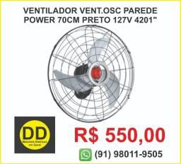 Ventilador Ventisol Osc Parede Power 70Cm Preto 127v