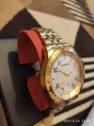 Relógio Mondaine Casual Slim Dourado