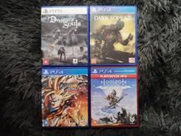 Jogos PS5 e PS4 (preços na descrição)