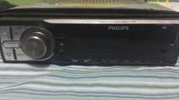 Rádio philips usb/cd/auxiliar com controle