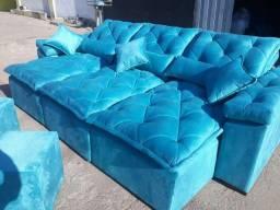 Título do anúncio: Contato * venham encomendar o seu sofá retratil e reclinável 3 metros
