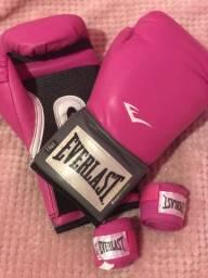 Luvas Everlast pink/bandagem