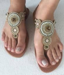 Rasteirinhas e sandálias couro legitimo