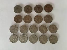 Moedas Quarter dollar.