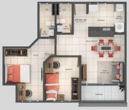 Apartamento com 56,3m² no Bairro do Jardim Cidade Universitária