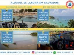 Aluguel de Lancha - Passeio na Baía de Todos os Santos