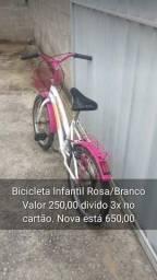 Bicicleta feminina infantil Verden Breeze aro 16 freios v-brakes cor branco/rosa
