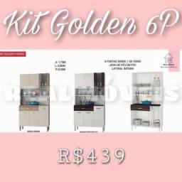 Armário de cozinha Golden 06 portas (01 de vidro)