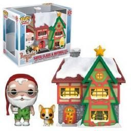 Funko Pop! Peppermint: Papai Noel e Nutmeg w/ House #01