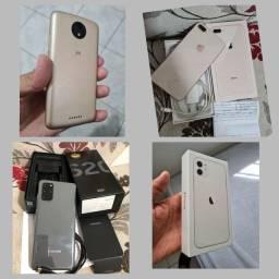 Vendo CELULARES: Moto C plus, Iphone 8 plus, S20 Plus e Iphone 11 256gb