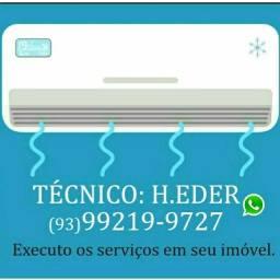 Refrigeração - limpeza e instalação de central de ar