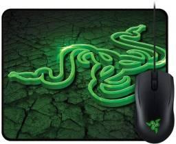 Título do anúncio: combo gamer razer mouse abyssus e mousepad goliathus