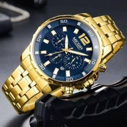 Relógio megir dourado apronta entrega