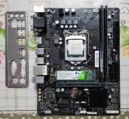 Kit placa-mãe + processador + memória + ssd M2