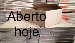 Caixas de papelão ABERTO HOJE