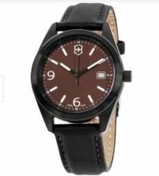 Título do anúncio: Victorinox - original, pronta entrega, couro preto, 40 mm, relógio suíço 26075.CB