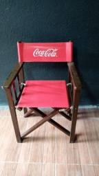 Vendo cadeira em madeira Stilo diretor de cinema originais coca cola