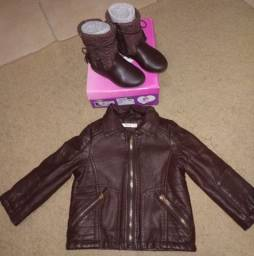 Jaqueta de couro + Bota Pampili