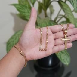 Semi jóias masculinas banhadas a ouro 18 k