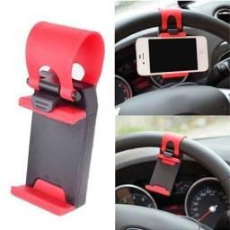 Suporte Veicular de Volante Para Celular GPS Smartphone
