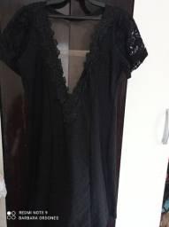 Vestido preto novo com telinha na frente e atrás tamanho P/M 65,00 não entrego