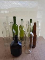Lote De Garrafas Vazias de Vinho / Champanhe